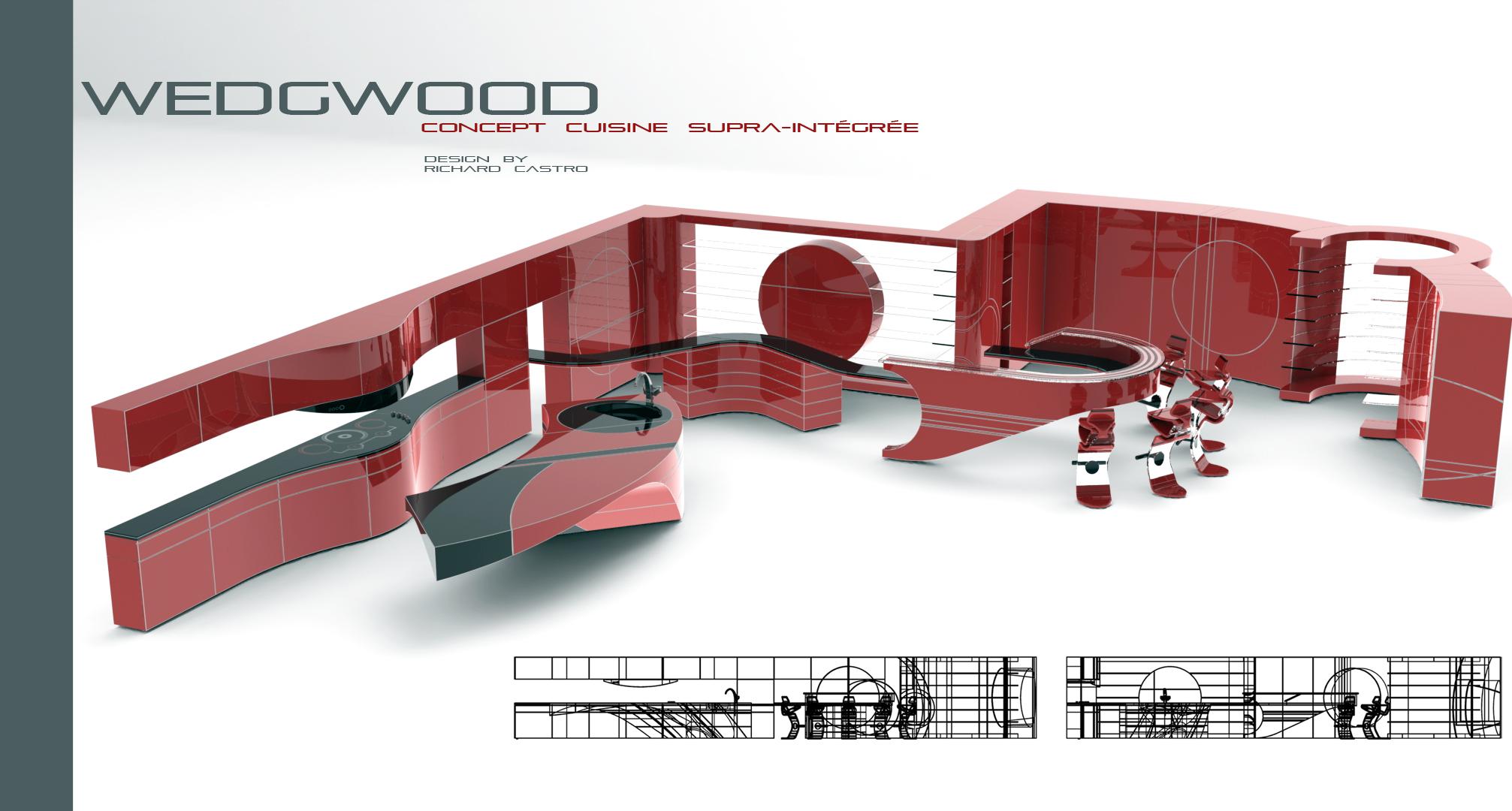 anamorphose 3d lumi re espace et cr ation richard castro concept cuisine wedgwood. Black Bedroom Furniture Sets. Home Design Ideas